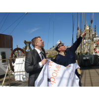 "Arman Company's Flag made a round-the-world cruise on the board of the sailing ship ""Sedov"""